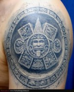 Complicated Aztec Tattoo
