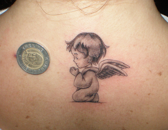 Adorable Baby Angel Tattoos