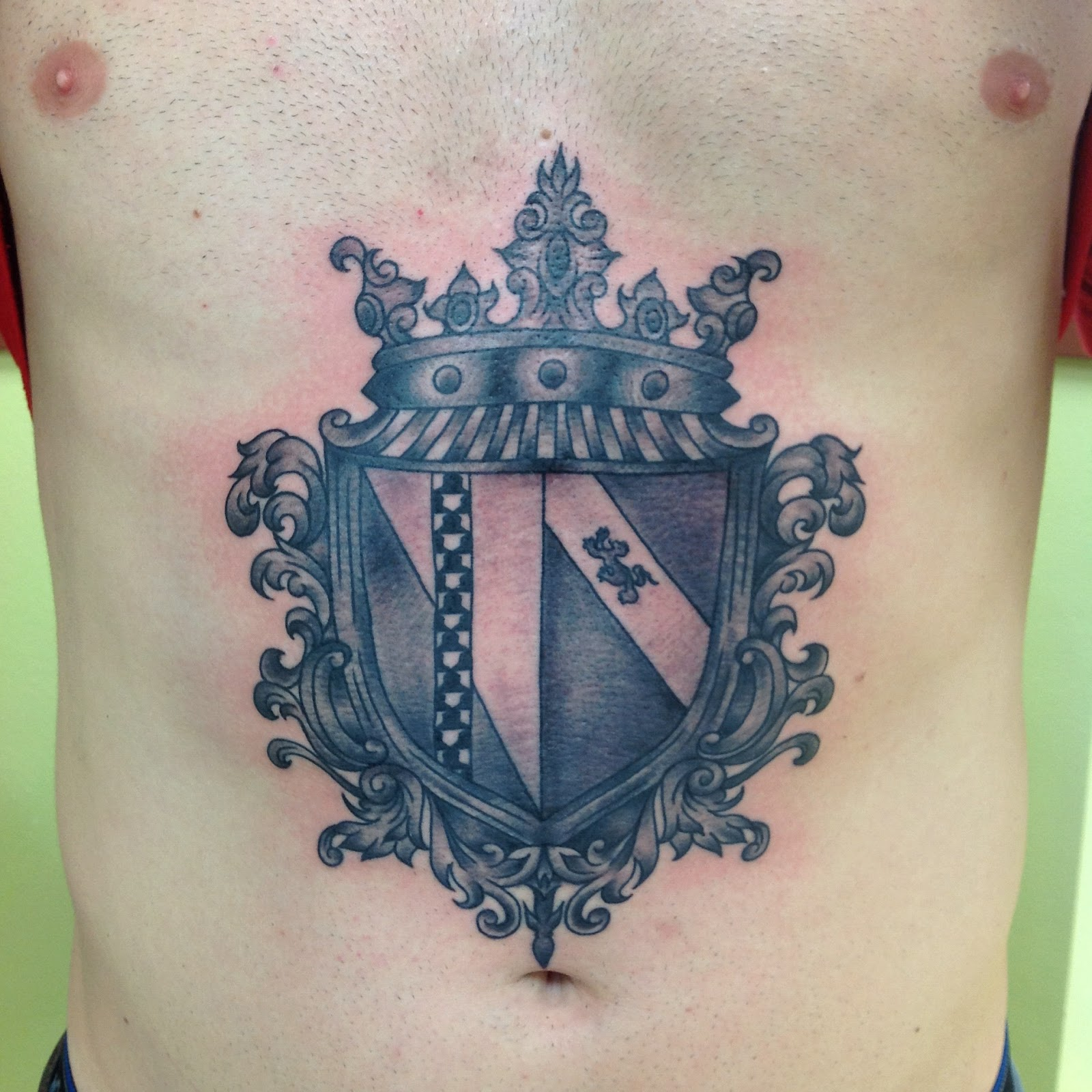 Neat Family Crest Tattoos