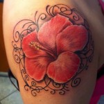 Lovely Hibiscus Tattoos