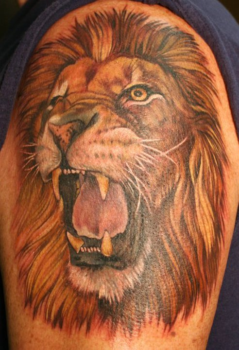 Fierce Lion Tattoo Designs