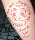 Heart Memorial Tattoo Designs