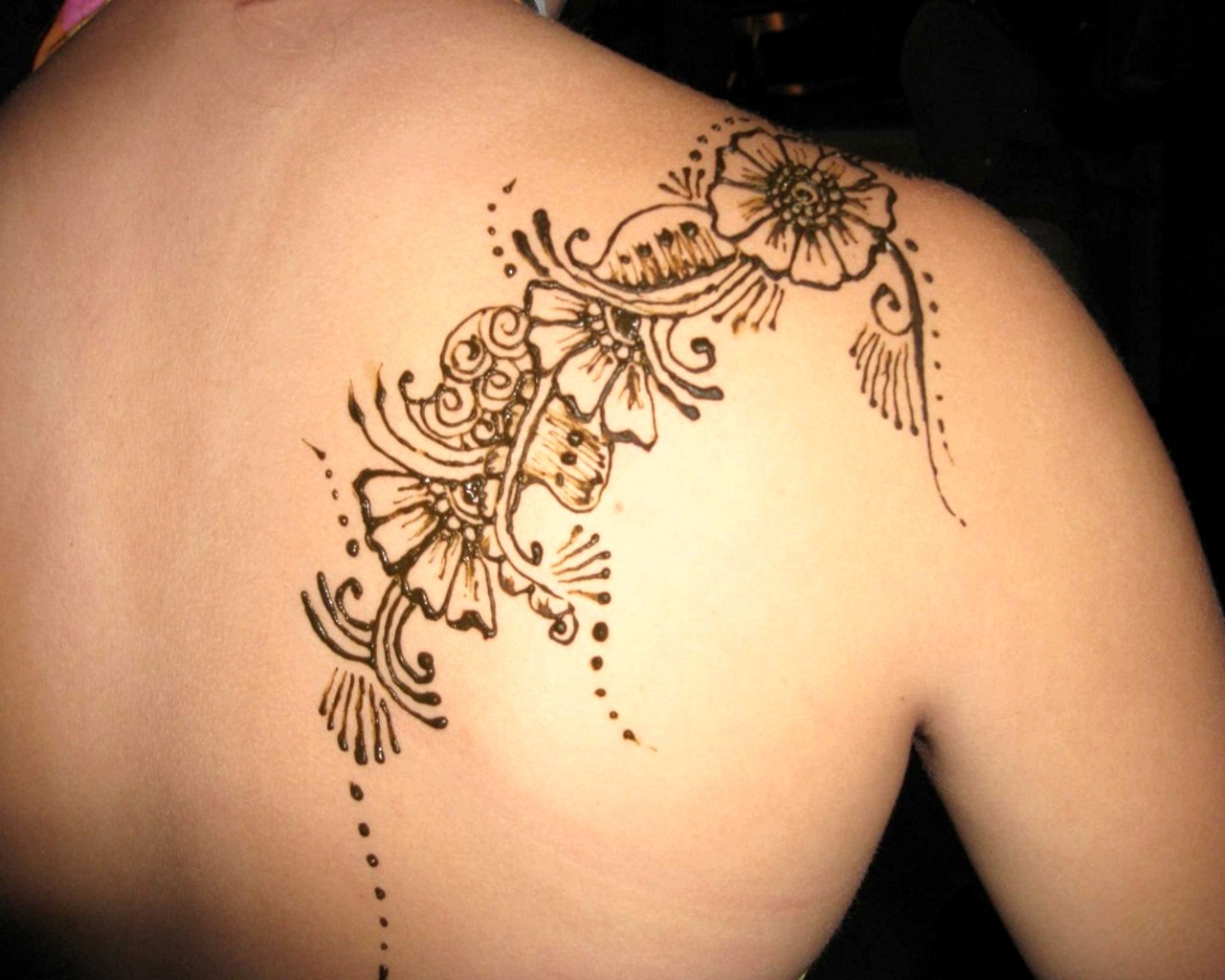 Back shoulder Tattoo Temporary